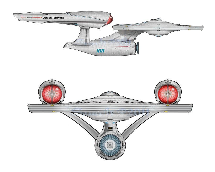 Star Trek 2009 USS Enterprise By SamMsArt