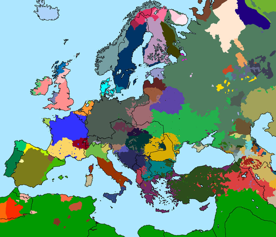 Language Map of Europe 1914 Version 3.0 by Thumboy21 on DeviantArt on