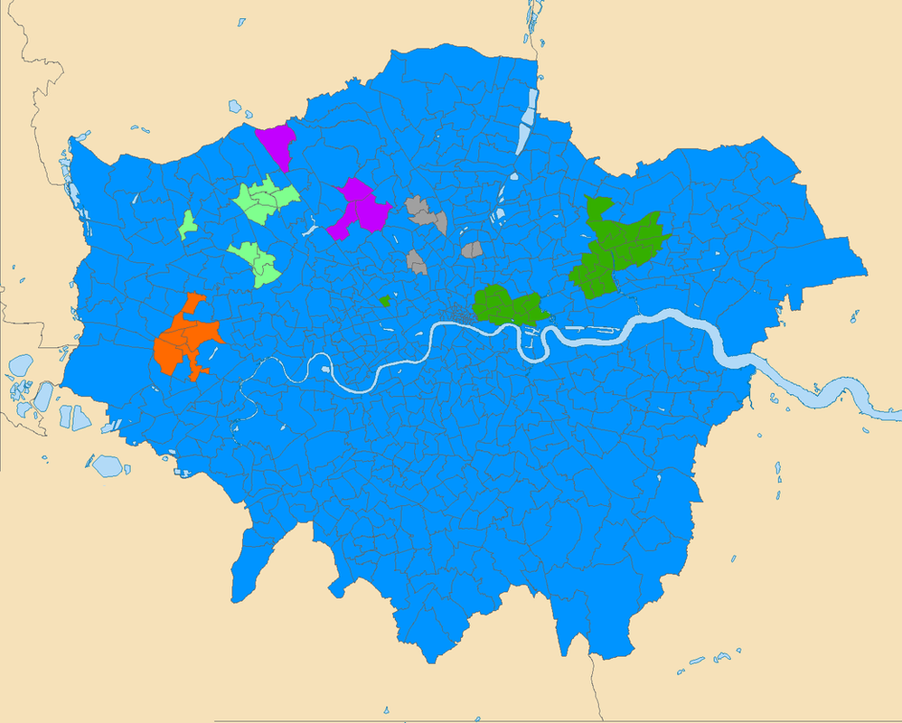 Map Of London By Religion By Thumboy On DeviantArt - World religion map 2016