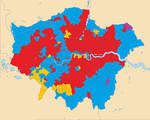 General Election 2015 in London by ward