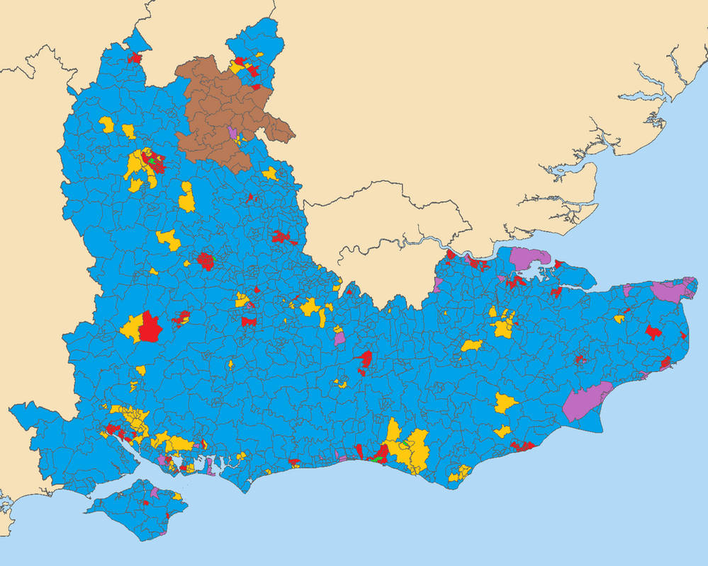 Map Of England 2015.General Election 2015 South East England By Ward By Thumboy21 On