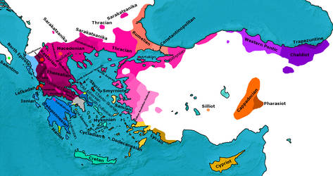 Map of Greek Dialects