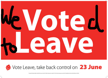 We voted to Leave..