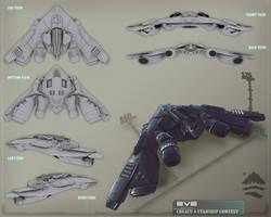 EVE Online Starship by Larkbeef