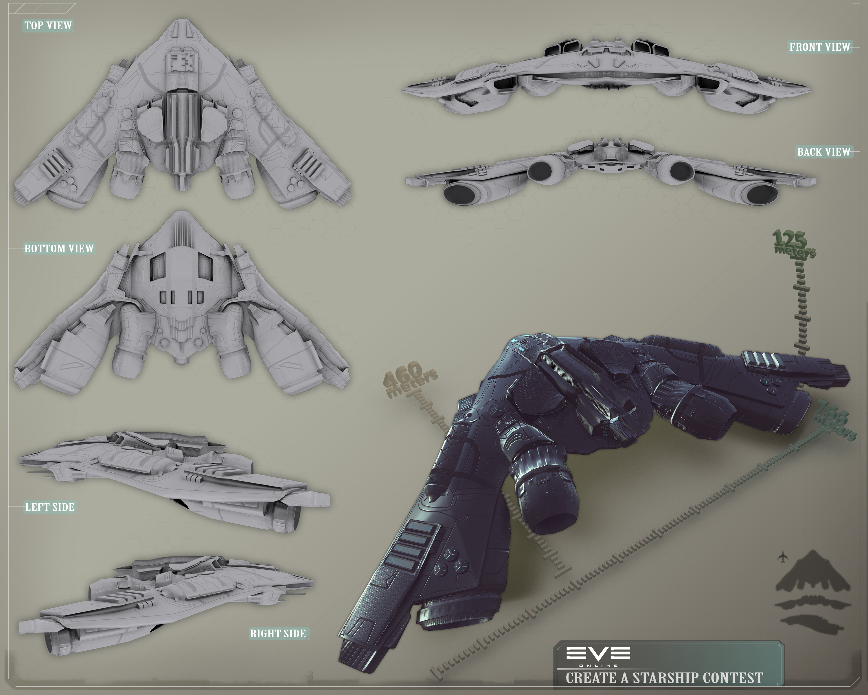 EVE Online Starship by Larkbeef