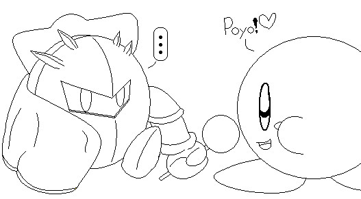 Meta Knight and Kirby by MetaKnightXKirby on DeviantArt