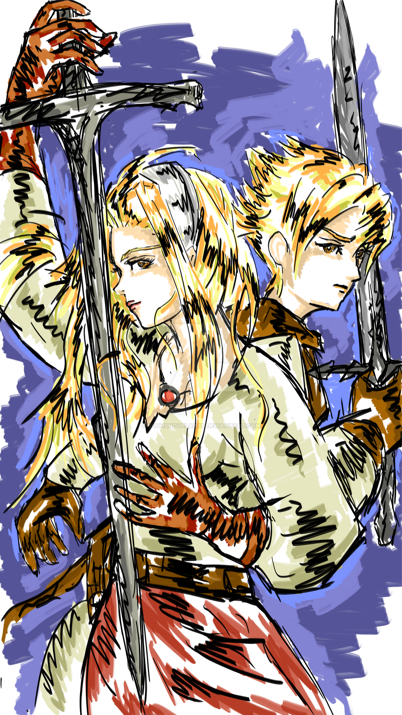 Siblings from Tactics Ogre let us cling together by