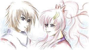 Kira Yamato and Lacus Clyne - Gundam Seed