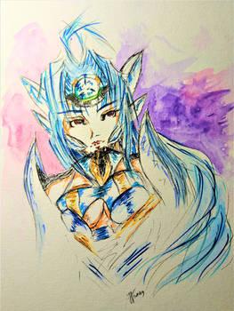 Manga girl kosmos drawing