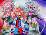 Good, Evil, and Human Android 21 - Colored Pencil