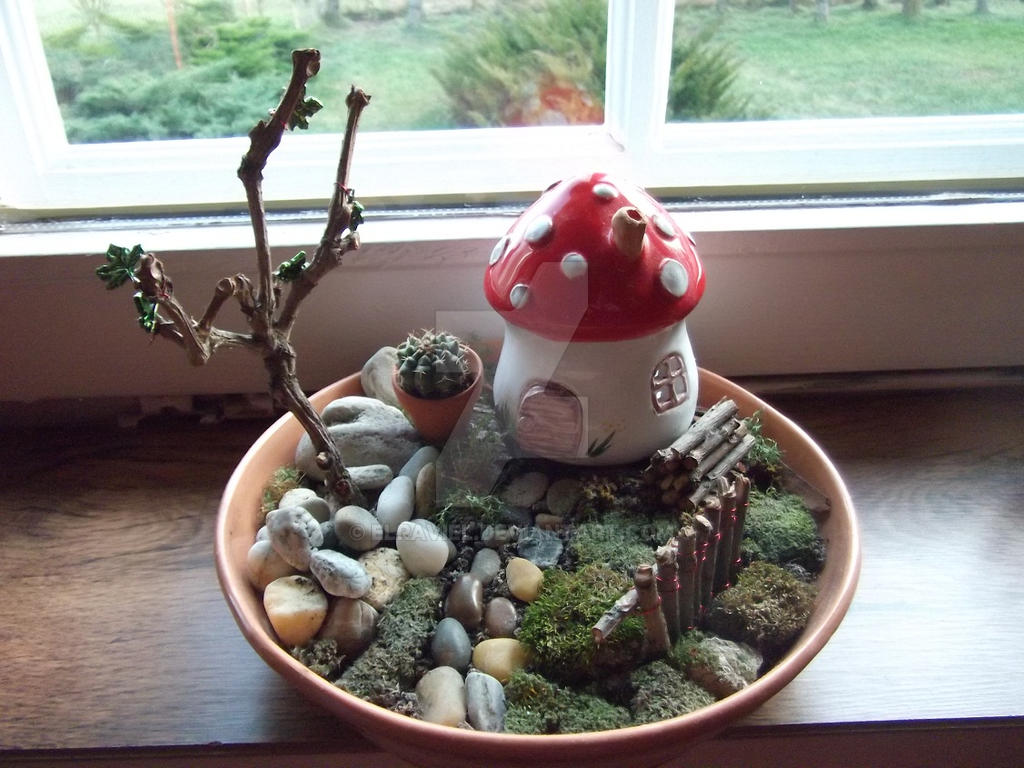 Ordinaire Mushroom House Fairy Garden By Elraviel ...