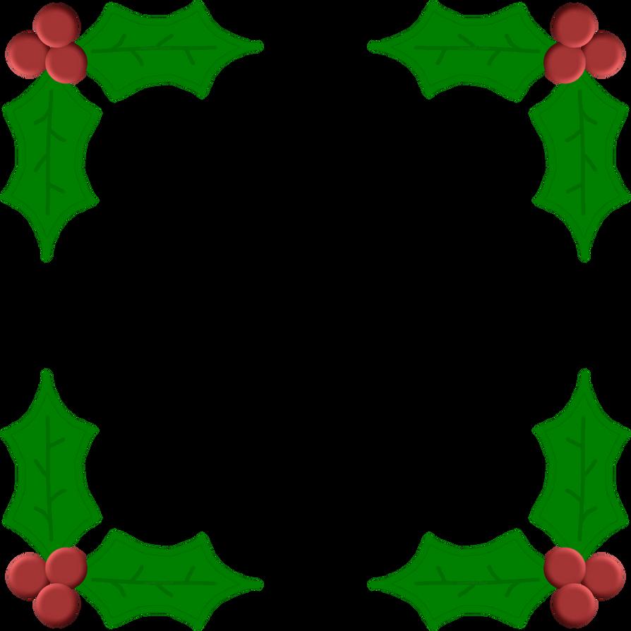 Christmas Holly Leaf Frame by Sharmelle on DeviantArt