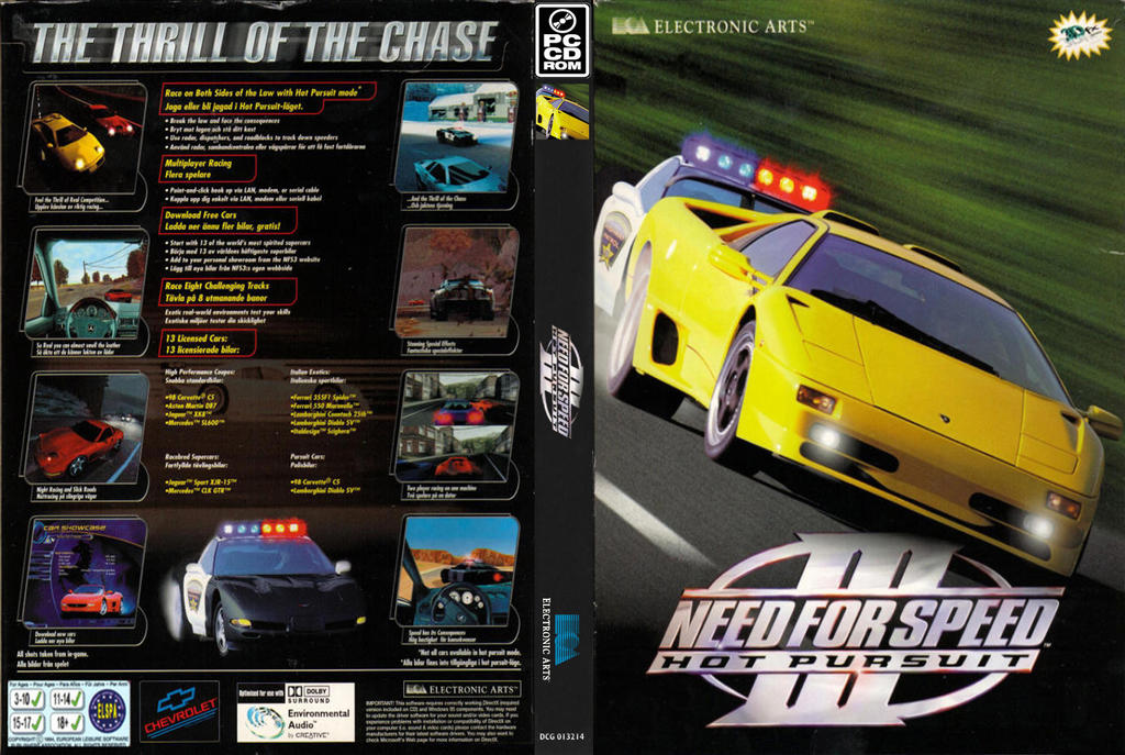 Need For Speed 3 Hot Pursuit Complete Cover Stock By Mighoet On
