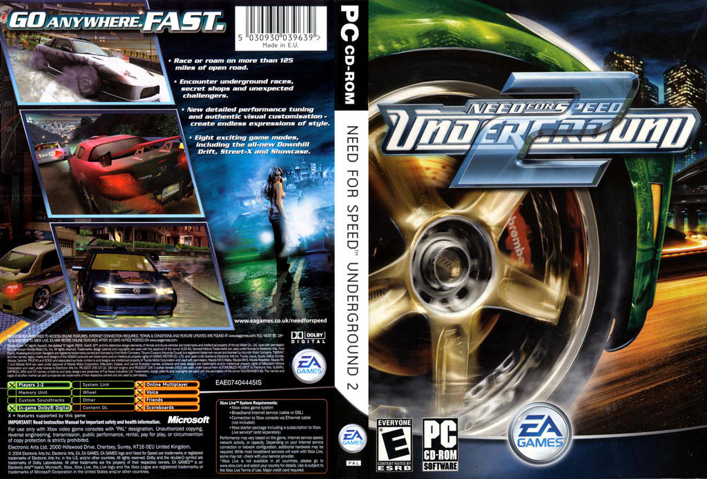 Need For Speed Underground 2 Complete Cover Stock By Mighoet On