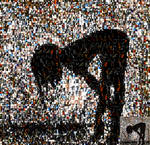 Silhouetted Woman Photomosaic