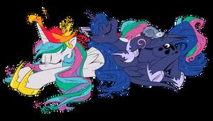 Celestia and Luna sleeping