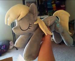 Sleeping Derpy Hooves Plush by JanellesPlushies
