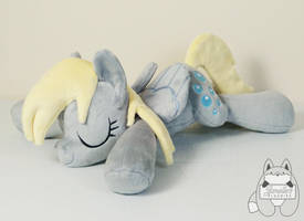 Sleeping Derpy Hooves Plushie by JanellesPlushies