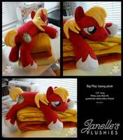 Big Mac Laying Plush by JanellesPlushies