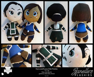 Korra and Kuvira Chibi Plushies by JanellesPlushies