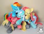 Pile-o-ponies for Bronycon and Otakon