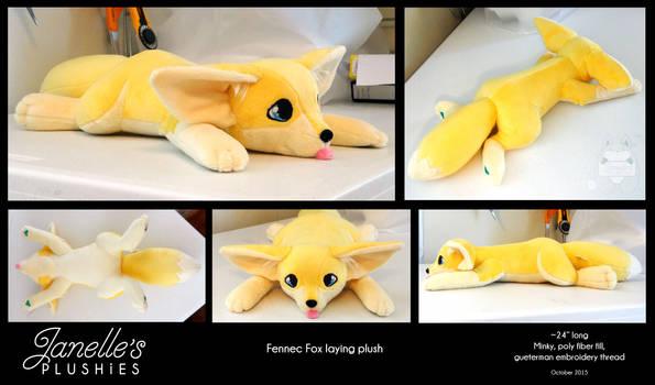 Fennec Fox laying plush