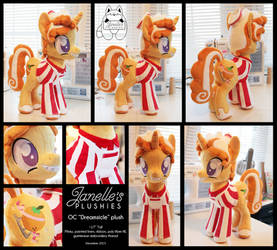 Dreamsicle OC pony plush by JanellesPlushies