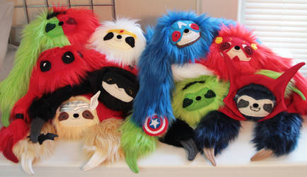 Super Sloth babies! *FLASH SALE HAPPENING NOW* by JanellesPlushies