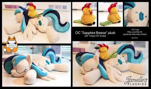 OC Sapphire Breeze sleeping pony with Chirpy Chi