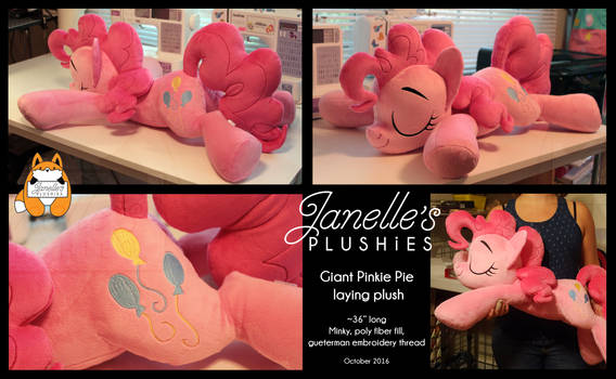 GIANT Pinkie Pie Plush