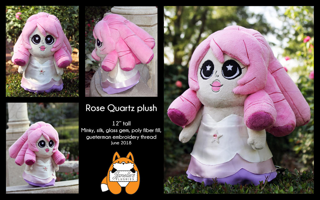 Rose Quartz plush by JanellesPlushies