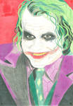 Heath Ledger Joker by horrorshow-artwork
