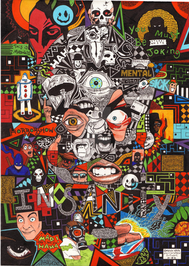 The Face Of Insanity by horrorshow-artwork