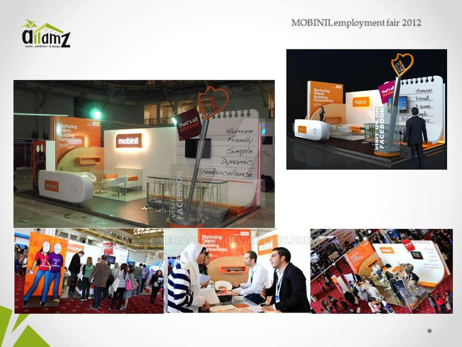 Exhibition Stand Jobs : Mobinil employment fair booth stand exhibition by
