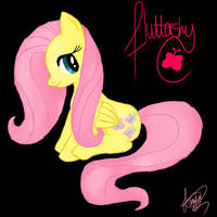 Fluttershy - Doodle by Lullaby-Scraps