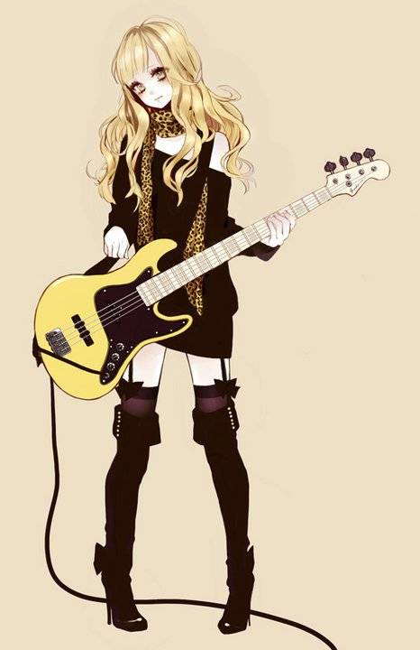 Anime Girl Playing Guitar By Ines50 On DeviantArt