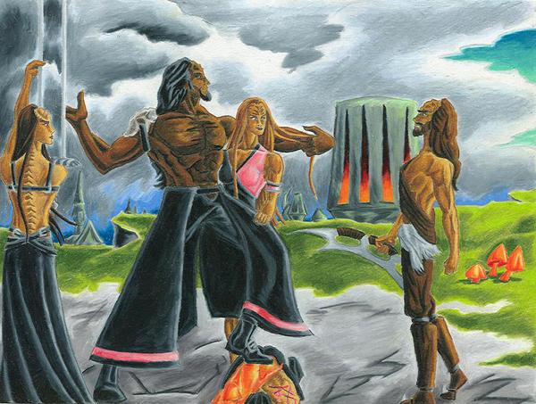Khaless vs. the Tyrant Molar by jmsnooks