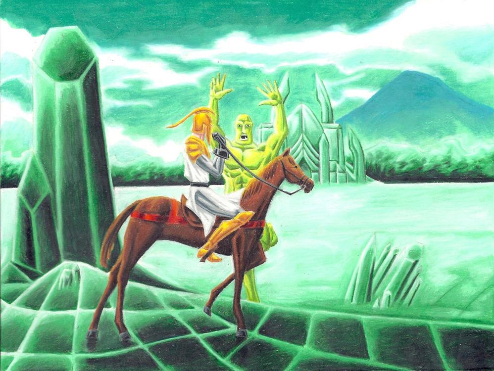 Sir Wheeliam vs. The Troll by jmsnooks