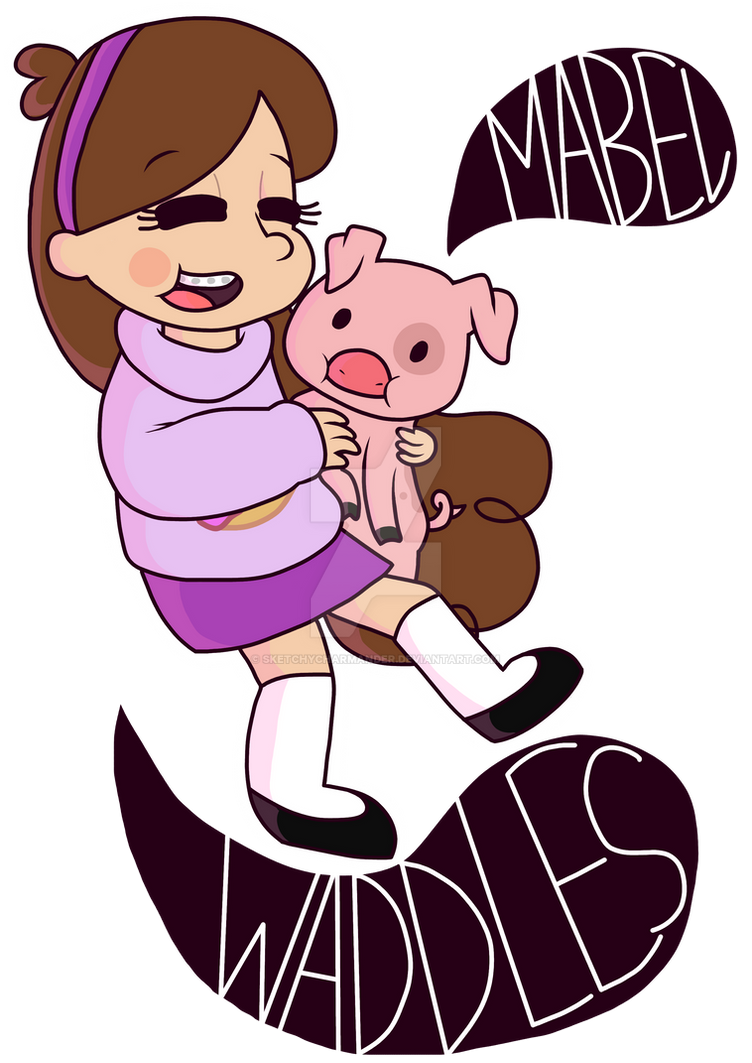 .:Mabel and Waddles:. by SketchyCharmander