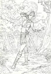 Elf sword-master commission