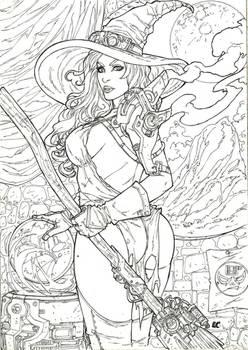 Green Witch of OZ Cyberpunk