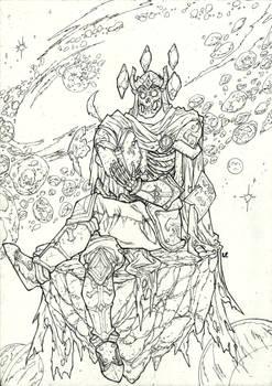 God of death lineart version