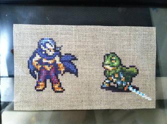 Magus vs Frog by Kasienda