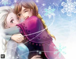 Elsa and Anna by boxno