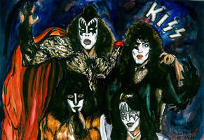 Kiss comic by Sass-Haunted