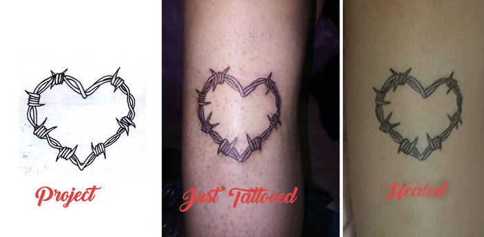 Barberwire Heart Tattoo vs Project