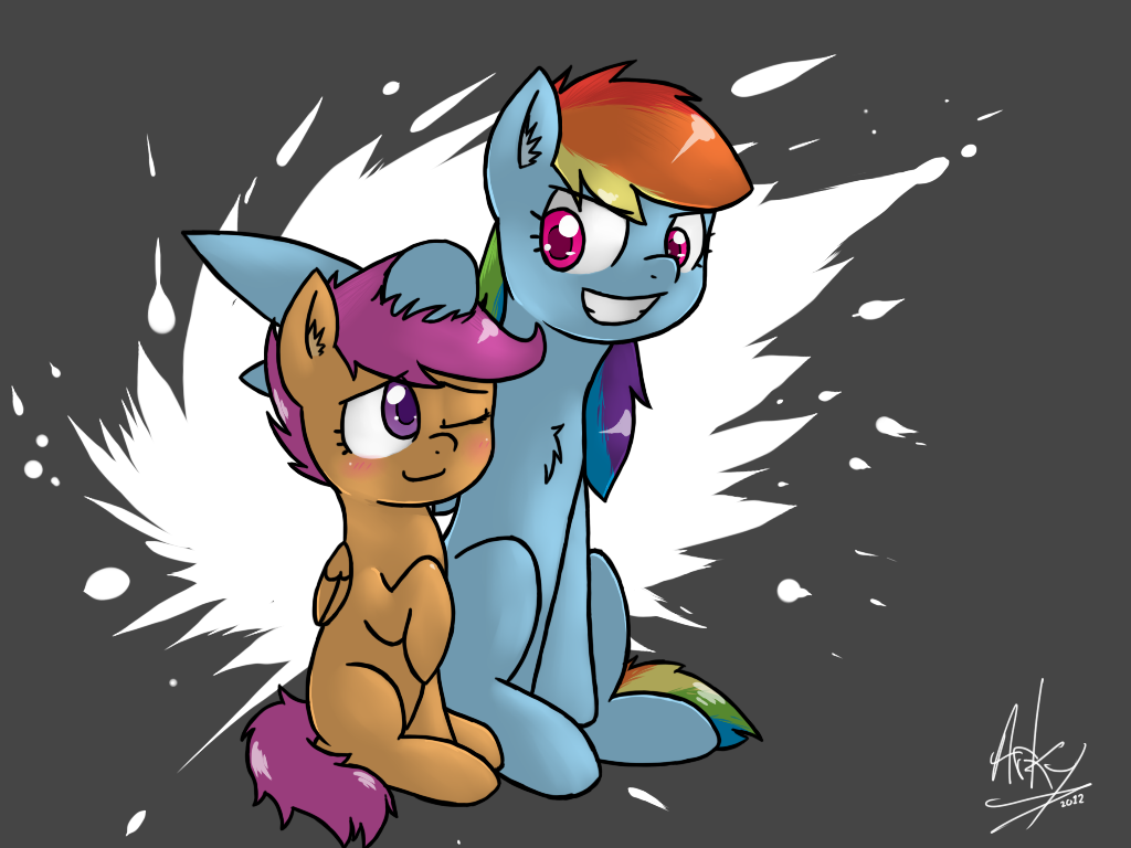 Like A Big Sister by ArkyPony