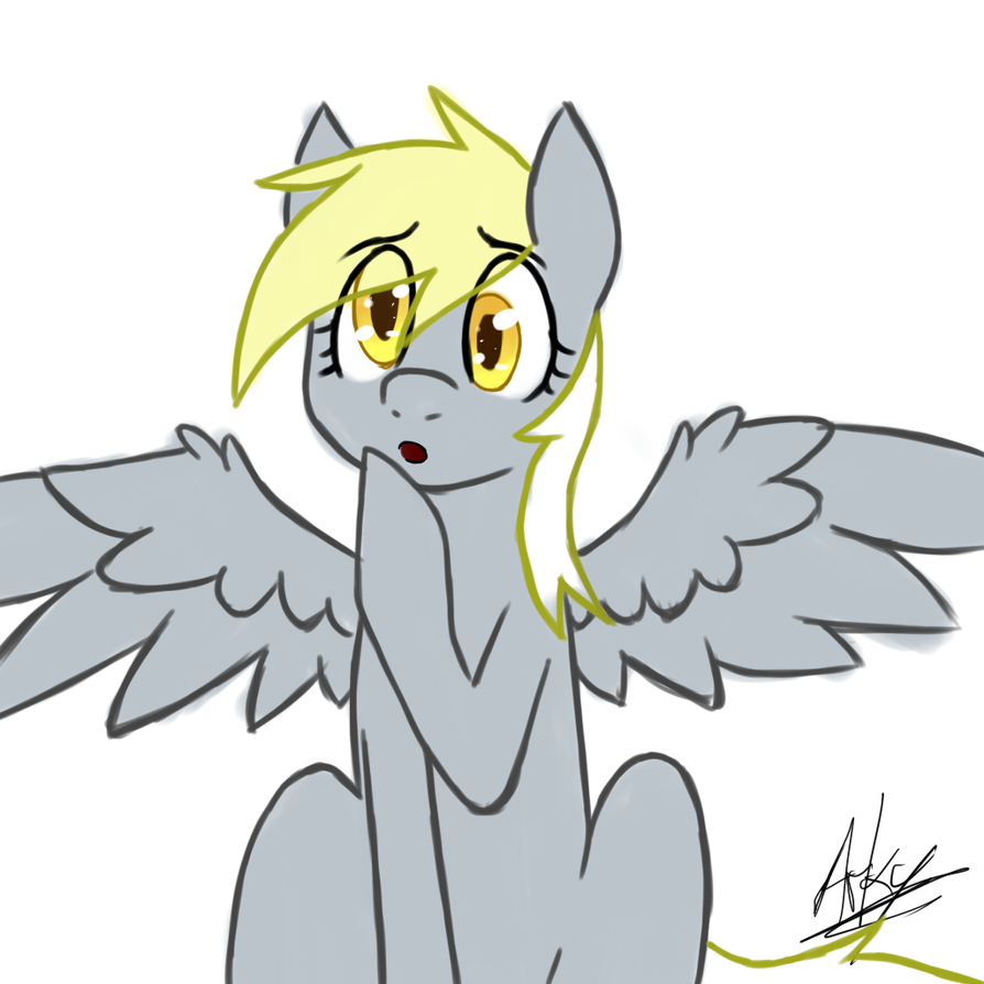 Derpy w/ colored lines by ArkyPony