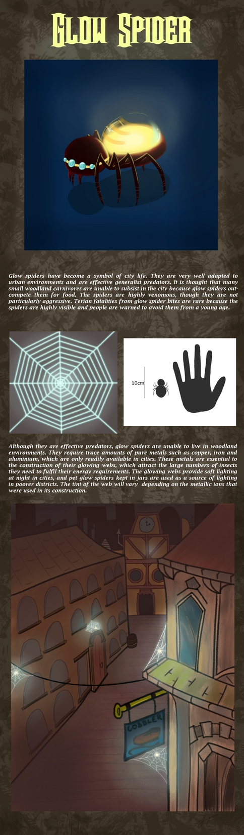 Glow Spider - contest entry by ScienceWithSteve