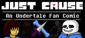 Undertale fan art: Banner for Just Cause by StephOBrien